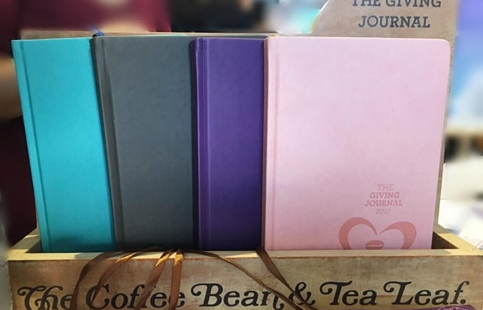 Start a Giving Journey with The Coffee Bean and Tea Leaf Giving Journal