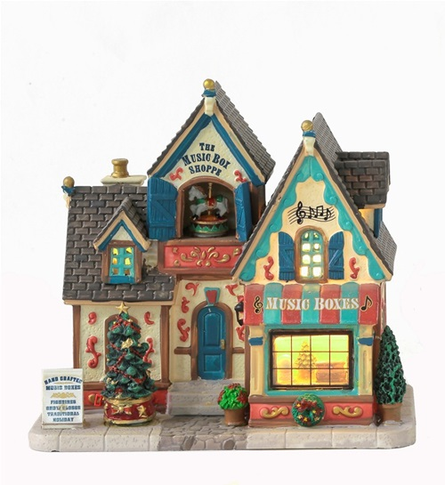 Build the most beautiful Christmas Villages with this The Music Box Shoppe figure.