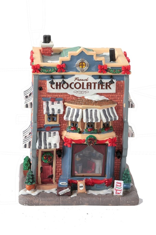 Add this The French Chocolatier to your Christmas Village.