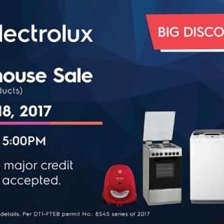 Electrolux Warehouse Sale on July 14 – 18, 2017
