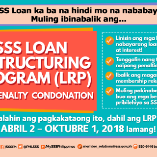 SSS Offers Again Loan Restructuring With Penalty Condonation