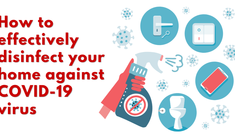 How to effectively disinfect your home against COVID-19 virus