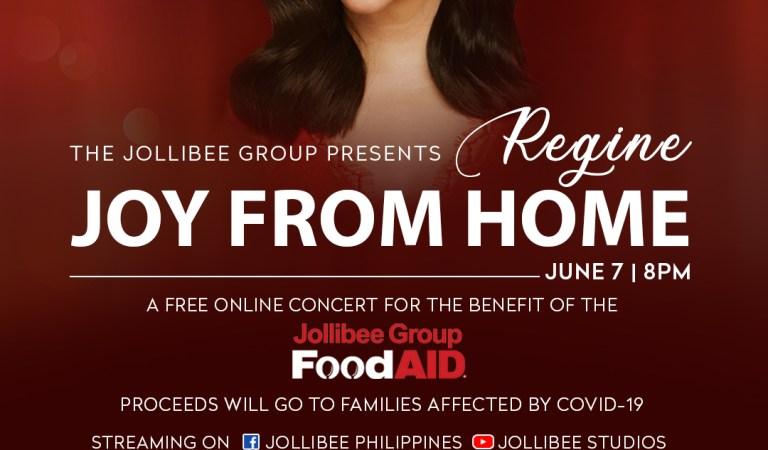 Regine Velasquez-Alcasid to hold Joy from Home free online concert on June 7