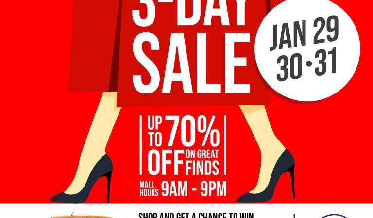 SM Center Angono holds its first 3-Day Sale for 2021