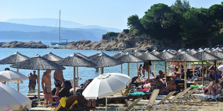 Banana Beach, Skiathos, Greece