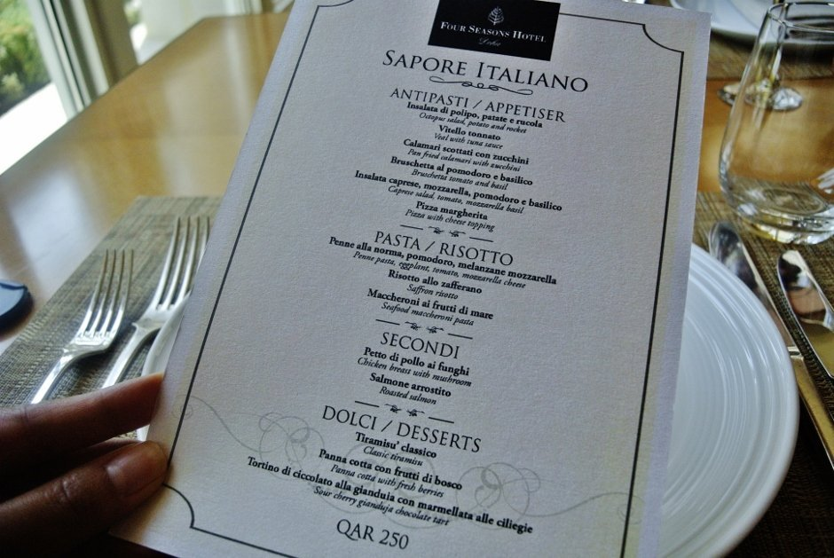 Sapore Italiano, Il Teatro, Four Seasons Doha