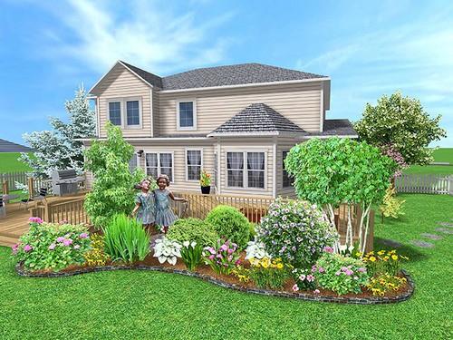 house with a garden