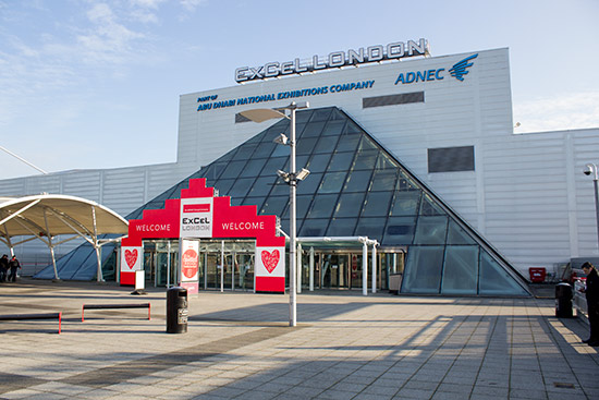 The ExCel London Exhibition Centre