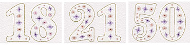 Individual number patterns at Pinbroidery