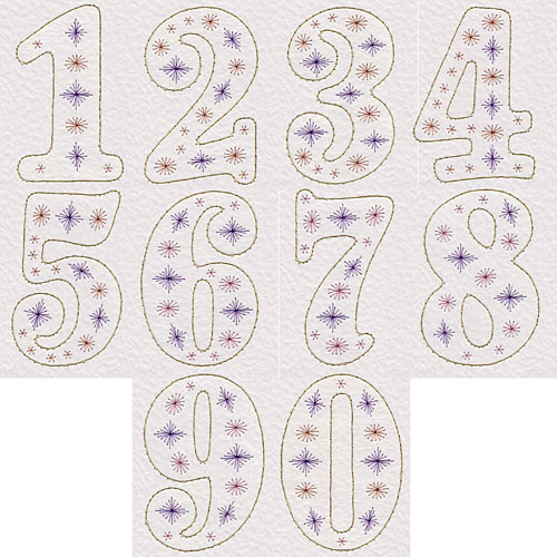 Number patterns at Pinbroidery