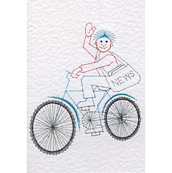 Paperboy pattern at Stitching Cards