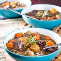 Easy Stove Top Beef Stew with Red Wine