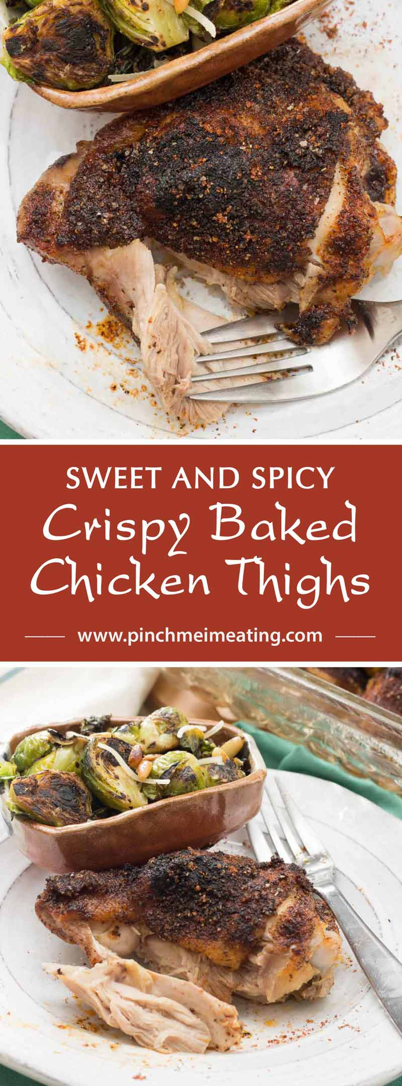 Sweet and Spicy Crispy Baked Chicken Thighs | Pinch me, I ...