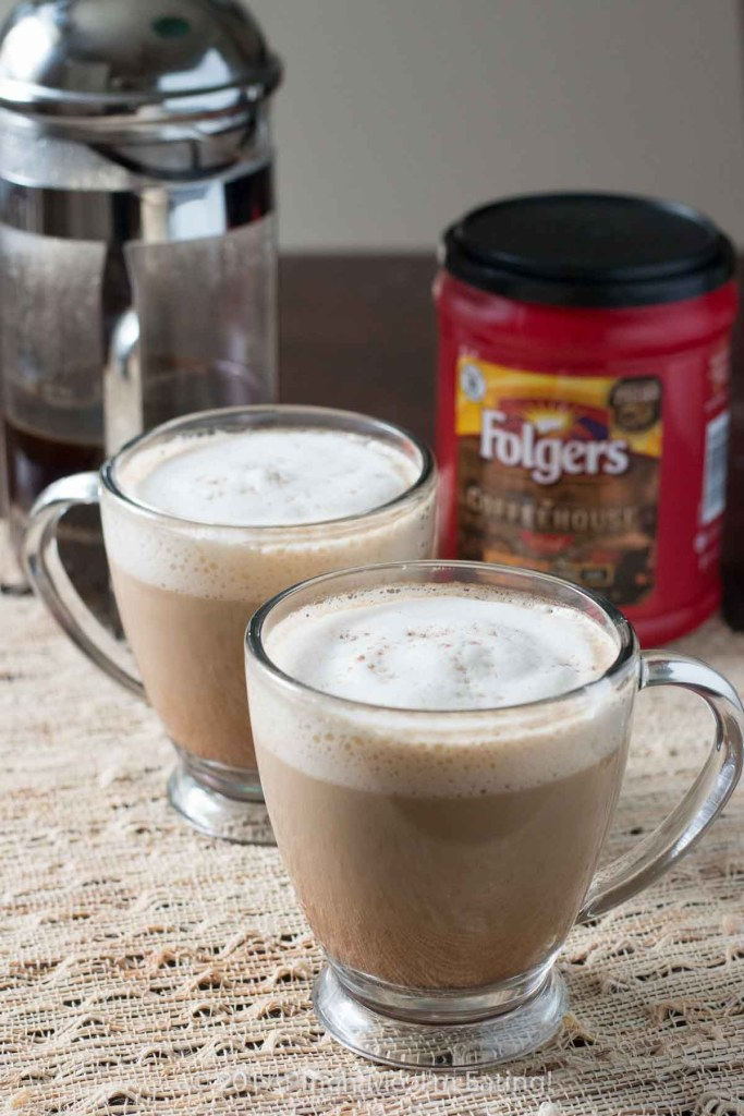 This spiced vanilla latte with a hint of cardamom and cinnamon is a simple, sophisticated coffeehouse style drink you can make at home using your French press!