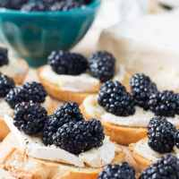 Crostini with Brie and Fresh Blackberries