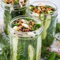 Spicy Refrigerator Dill Pickles