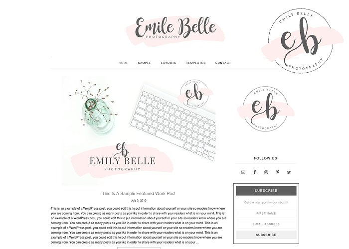 Emily Belle - WordPress theme