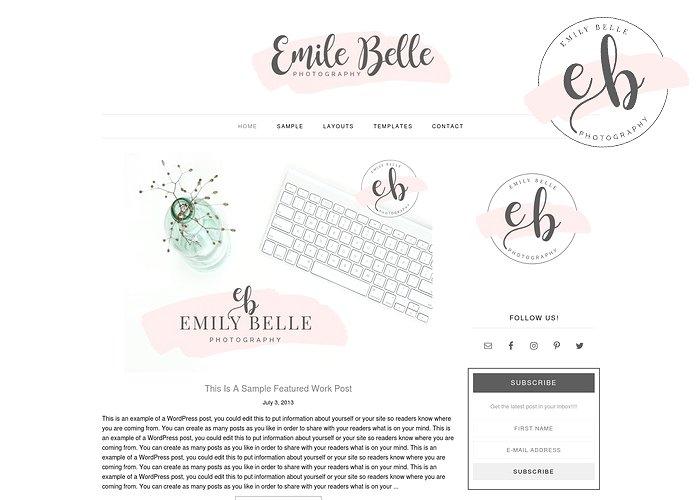 Emily Belle - WordPress theme