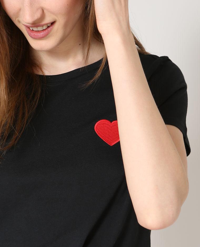 Pimkie zwart shirt hartje