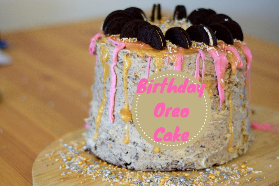 Oreo verjaardagstaart