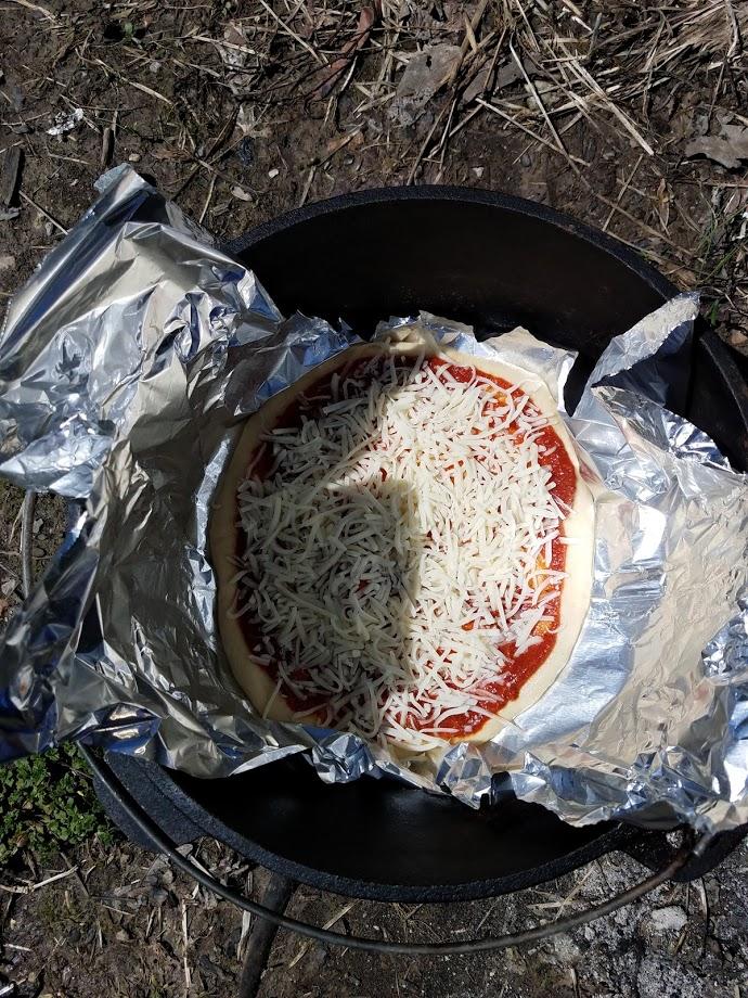 pizza in a dutch oven