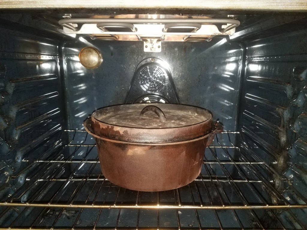 Dutch oven in an oven