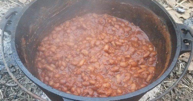 Dutch Oven Baked Beans From Scratch