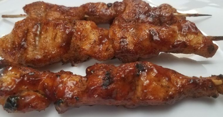 Spicy BBQ Chicken Skewers