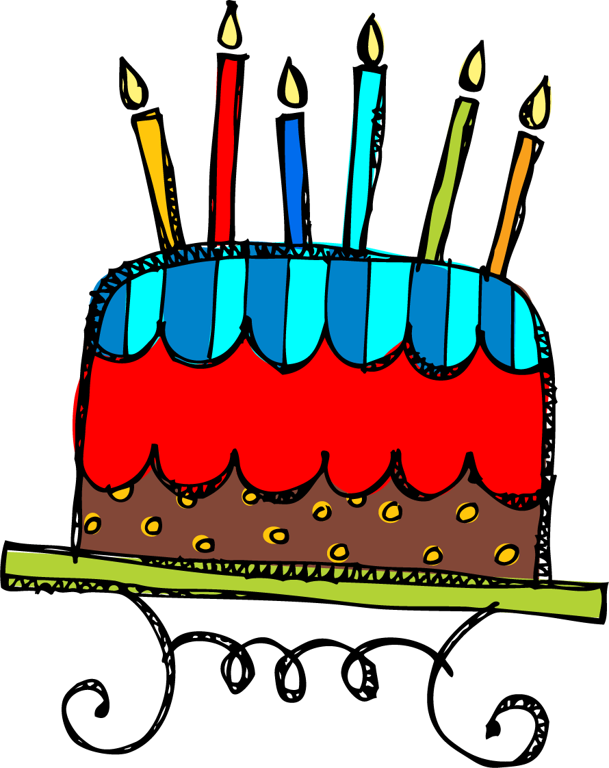 Free Clip Art Birthday Cake Many Interesting Cliparts Birthday Cake With 6 Candles Png Download Full Size Clipart 7323 Pinclipart