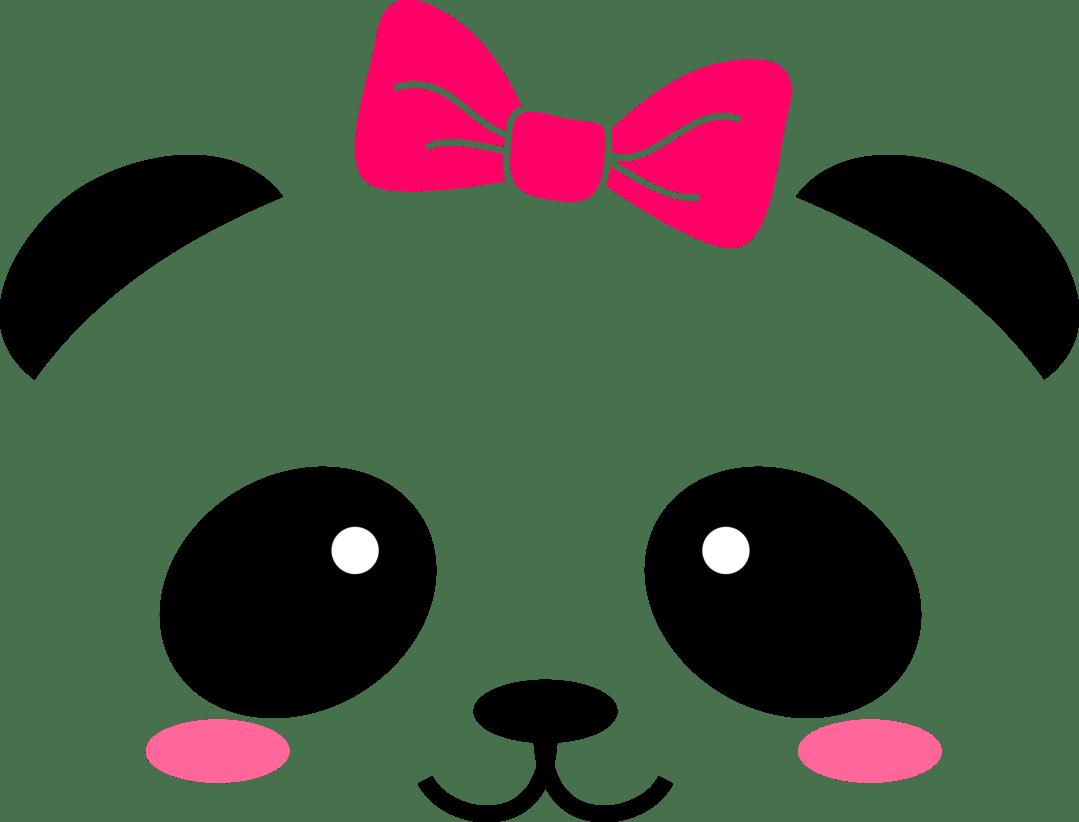 Cute Animal Face Vinyl Decals Cara Kawaii De Panda Clipart Full Size Clipart 1878453 Pinclipart