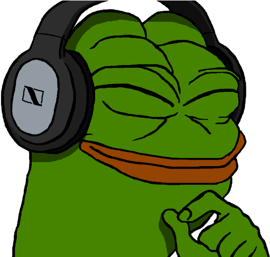 Fashy Music Pepe Frog Png Clipart Full Size Clipart 3659956