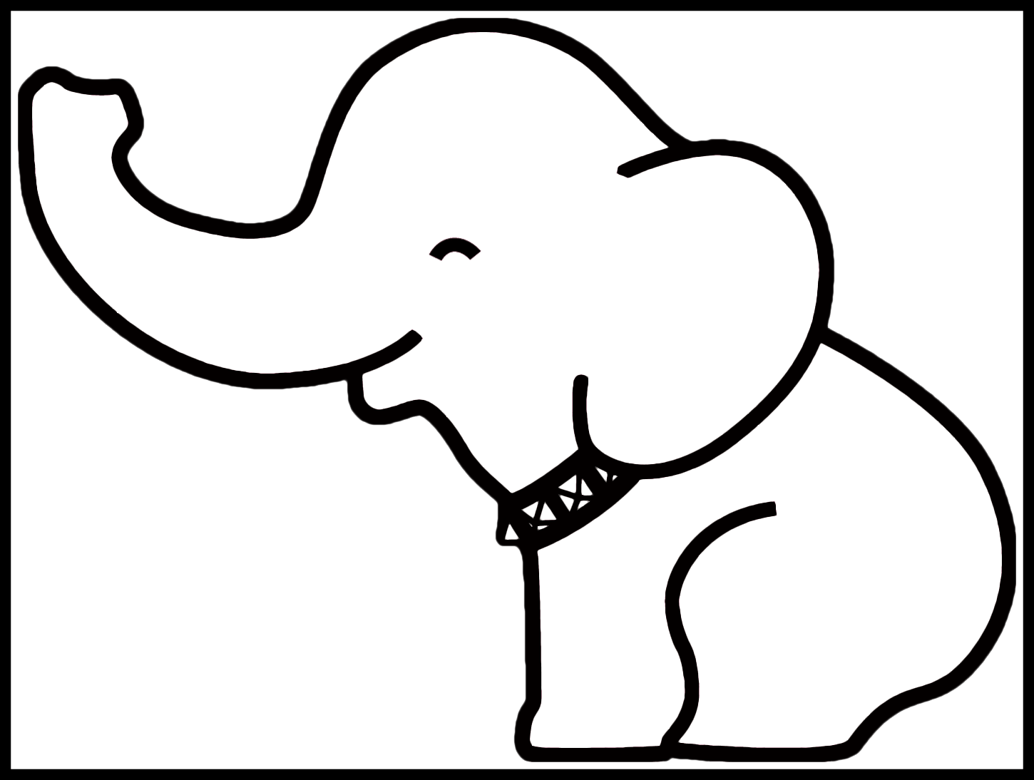 Pig Outline Drawing Baby Elephant Easy Drawing Clipart Full Size Clipart 4058471 Pinclipart