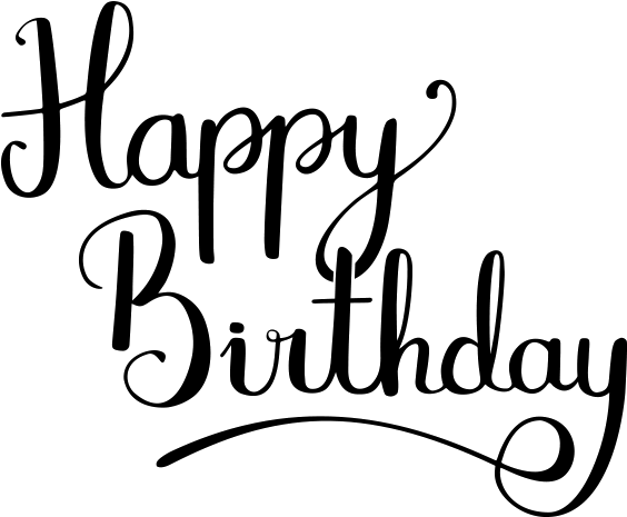 Calligraphy Clipart Transparent Happy Birthday Fancy Writing Png Download Full Size Clipart 5543578 Pinclipart