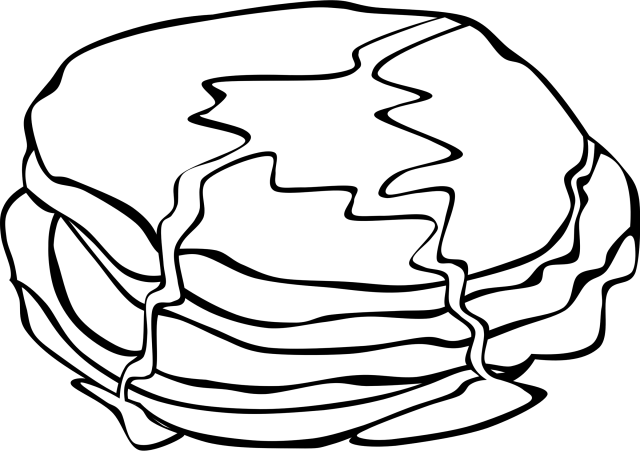 Breakfast Pancake Coloring Book Colouring Pages Fried - Pancake