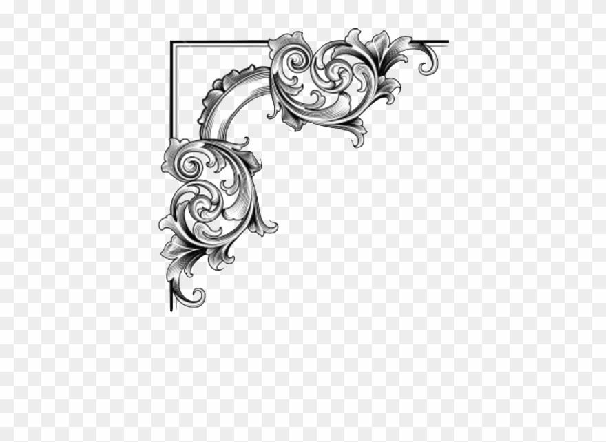 Simple Swirl Heart Border