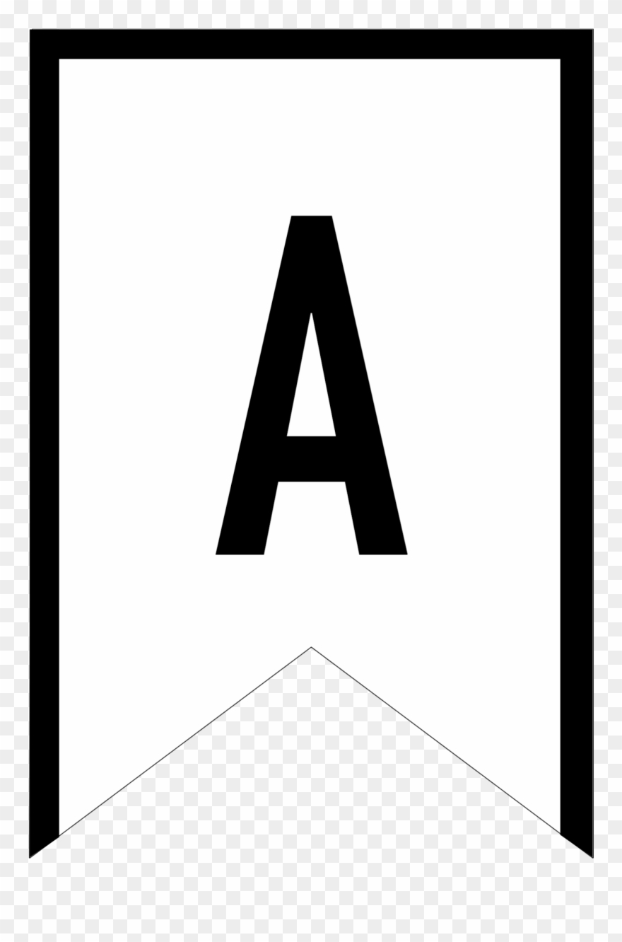 Banner Templates Free Printable Abc Letters Triangle