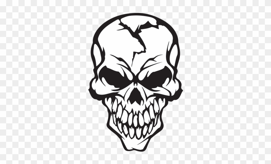 Cracked Drawing Skull Cracked Skull Clipart 1114918 Pinclipart