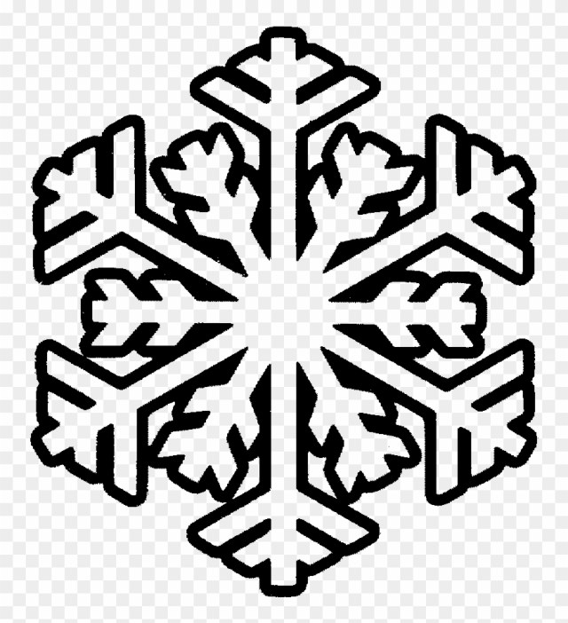 Free Printable Snowflake Png Royalty Template Techflourish - Free