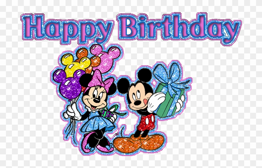 Happy Birthday Glitter Images Happy Birthday Kids Happy Birthday Mickey And Minnie Mouse Clipart 1510018 Pinclipart