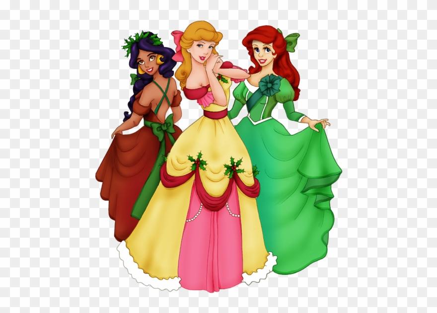 Glitter Clipart Princess Disney Princess Christmas Clip Art Png Download 1705803 Pinclipart