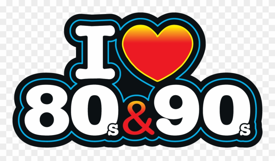 Download I Love The 80s Logo Png Vector Library - Love 80 Y 90 ...