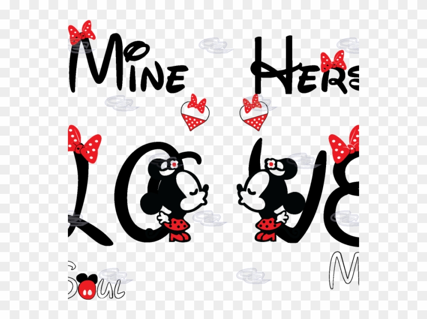 Download Download Vector Love Mickey Clipart Minnie Mouse Mickey ...