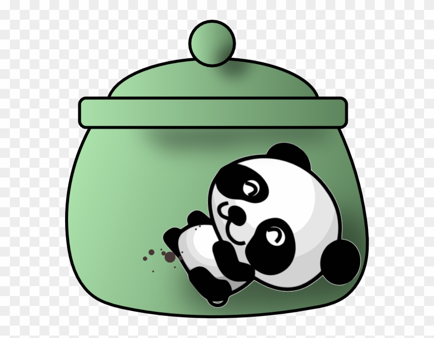 A Cookie Jar With A Happy Panda Clipart 2263899 Pinclipart