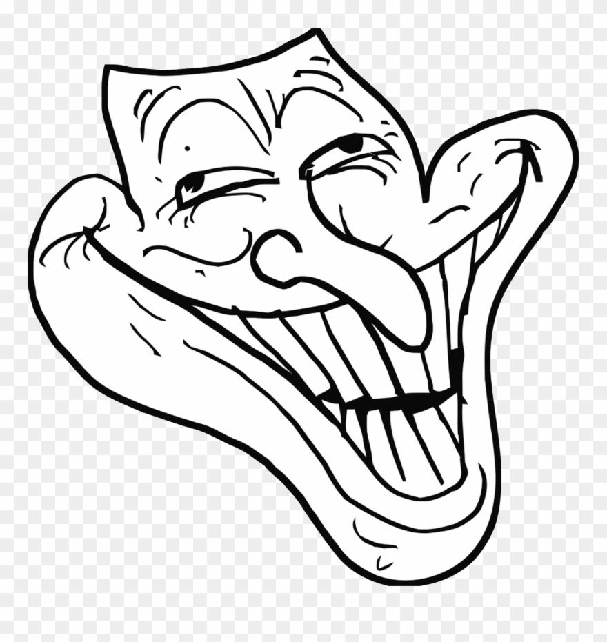 Trollface Png Transparent Weird Troll Face Clipart 3467561