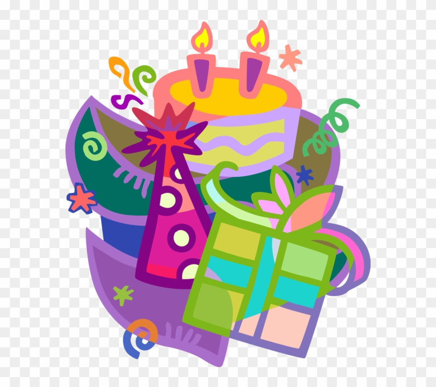 616 X 700 2 0 Cake And Gifts Clipart Png Download 3735977 Pinclipart