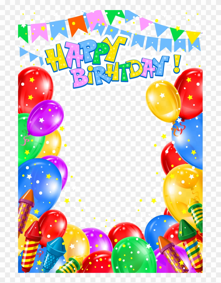 Balloon Birthday Clip Art Happy Birthday Banner Png Transparent Png 3865930 Pinclipart