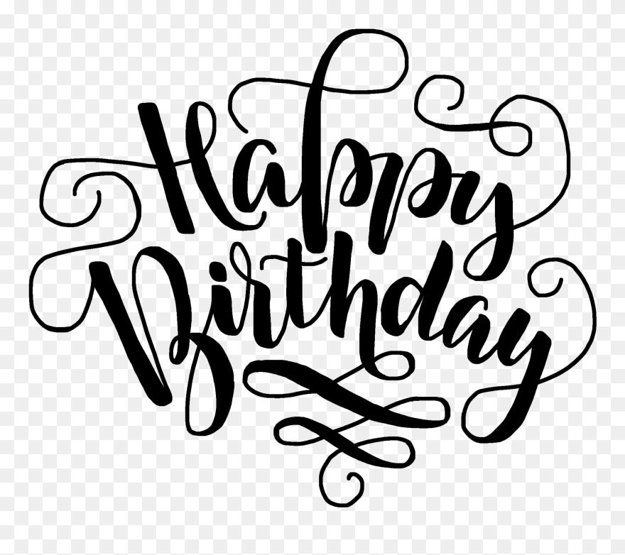Happybirthday Birthday Birthdaywishes Happyday Happy Happy Birthday Calligraphy Purple Clipart 405460 Pinclipart