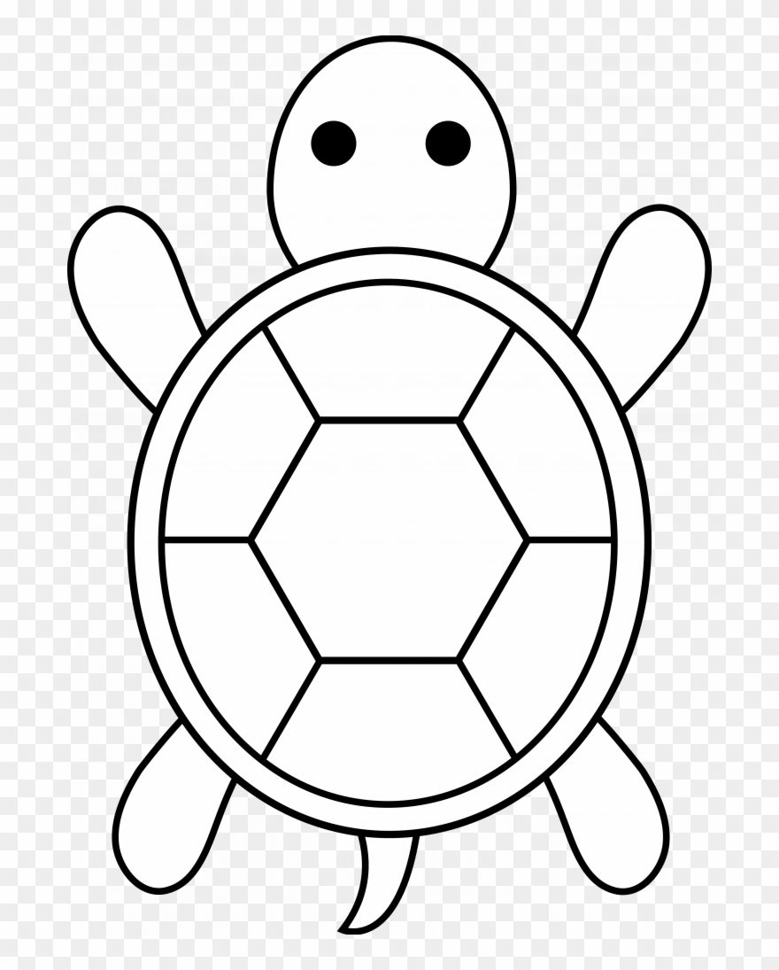 Images Of Easy Coloring Pages Easy Cute Turtle Drawing Clipart 4467346 Pinclipart