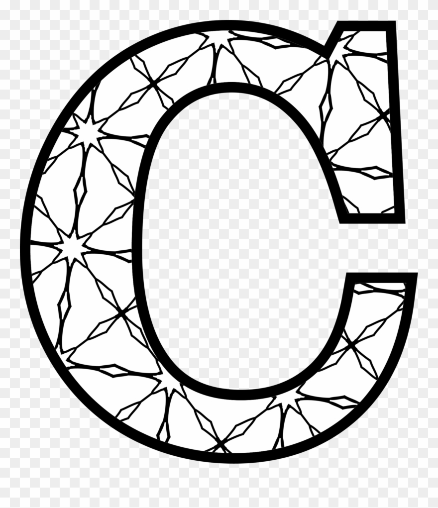 Letters Coloring Pages Letter C To Colour Clipart 487026 Pinclipart