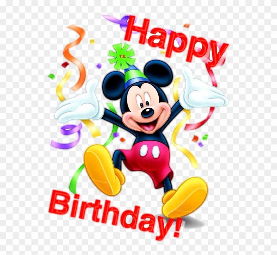 Mickey Mouse Happy Birthday Png Happy Birthday Mickey Mouse Clipart 4877406 Pinclipart
